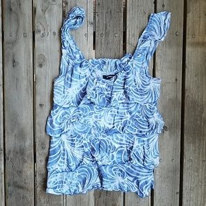 Express wave,beachy looking tiered tank top Size S